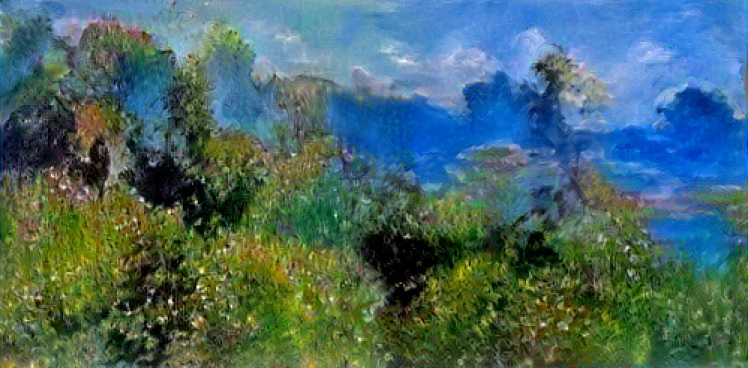 AI Art: A landscape painting generated by artificial intelligence algorithms
