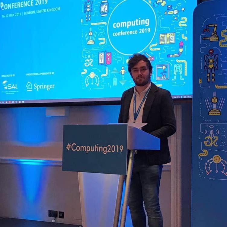 Jordan J. Bird presenting work at the SAI Computing Conference 2019